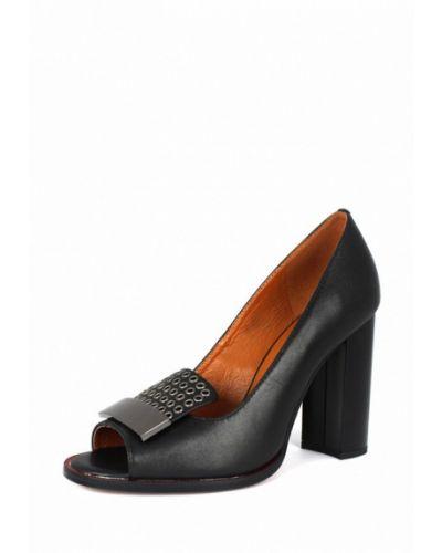 Кожаные туфли с открытым носком осенние Blizzarini