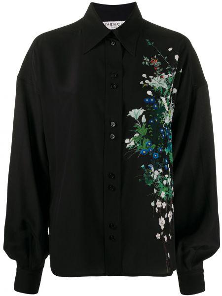 Bluzka w kwiatowe wzory z wzorem Givenchy