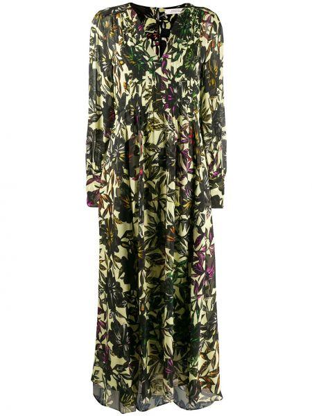 Платье макси на пуговицах с цветочным принтом Dorothee Schumacher