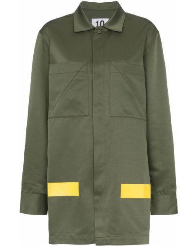 Пальто классическое с воротником на пуговицах с капюшоном Ten Pieces