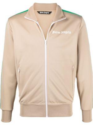Klasyczna długa kurtka z długimi rękawami z printem Palm Angels
