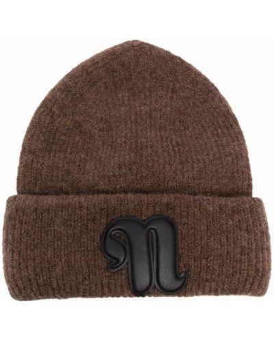 Brązowa czapka beanie Nanushka