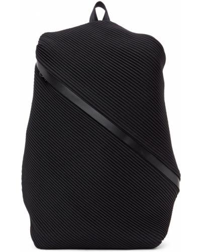 Plecak skórzany - czarny Pleats Please Issey Miyake