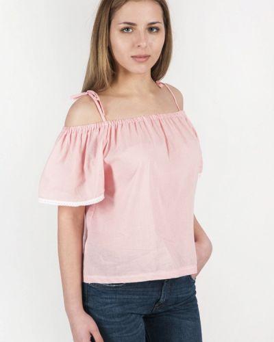 Блузка с открытыми плечами розовая весенний Vergans