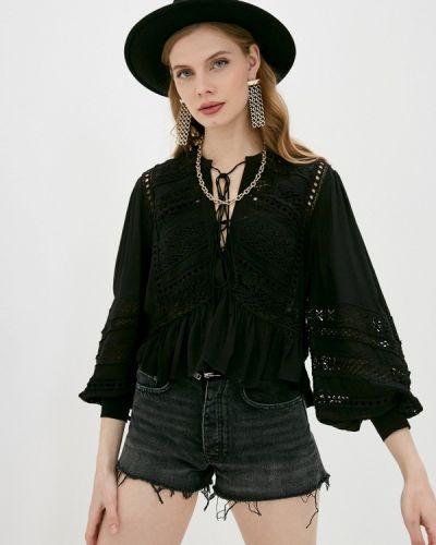 Кружевная черная блузка The Kooples