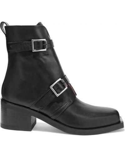 Czarne ankle boots skorzane klamry Rag & Bone