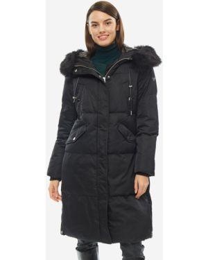 Зимняя куртка с капюшоном длинная Guess