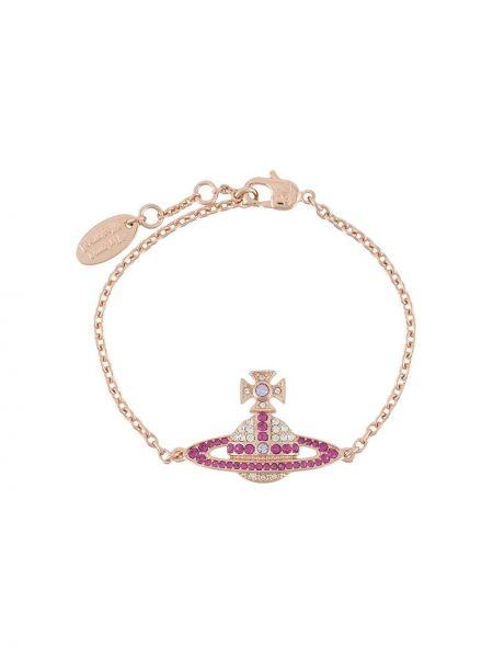 Różowa złota bransoletka ze złota Vivienne Westwood