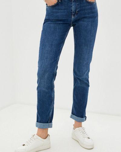 Прямые синие прямые джинсы S.oliver