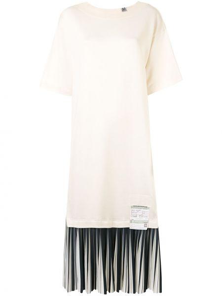 Платье мини с надписью с вырезом с короткими рукавами круглое Maison Mihara Yasuhiro