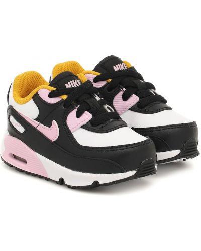 Skórzany czarny skórzane sneakersy Nike Kids