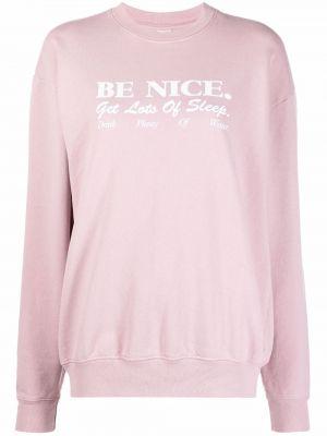 Różowa bluza bawełniana Sporty And Rich