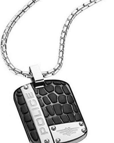 Серебряный медальон с подвесками с декоративной отделкой Police