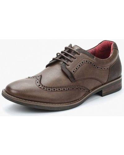 Коричневые туфли из искусственной кожи Tesoro
