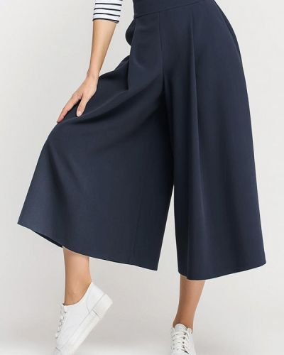 Расклешенные синие брюки Giulia Rossi
