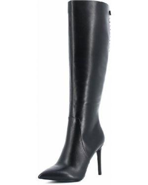 Байковые черные ботинки на каблуке на молнии Paolo Conte