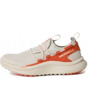 Оранжевые спортивные текстильные кроссовки для бега на шнуровке Merrell