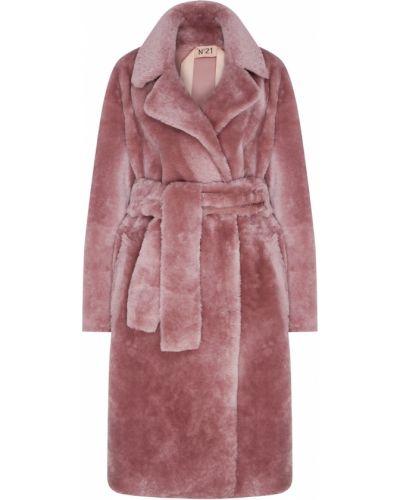 Пальто розовое из овчины No.21