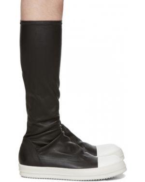 Wysoki sneakersy białe czarne Rick Owens