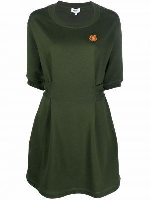Платье в рубчик - зеленое Kenzo