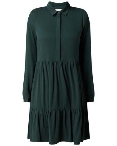 Zielona sukienka z długimi rękawami Vila