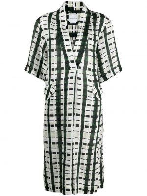 Льняное белое платье с V-образным вырезом Ballantyne