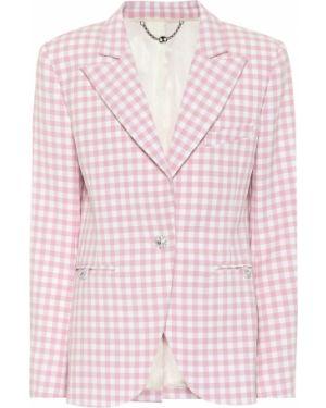 Костюмный розовый пиджак Paco Rabanne