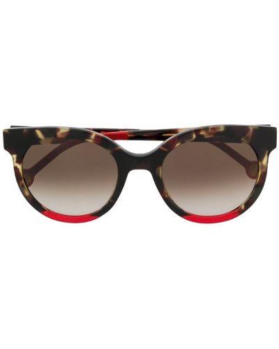 Прямые муслиновые солнцезащитные очки круглые хаки Ch Carolina Herrera