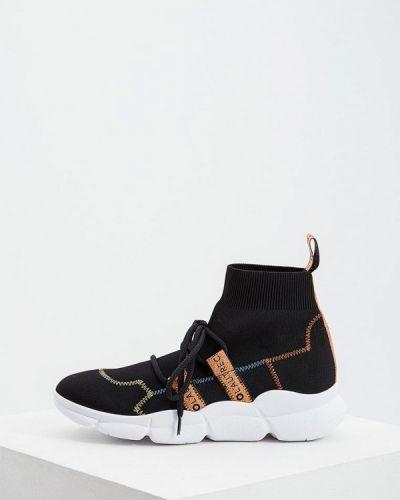 Высокие кроссовки черные итальянский L'autre Chose