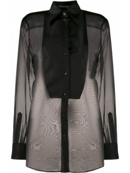 Z rękawami jedwab czarny śliniak z mankietami Dolce And Gabbana