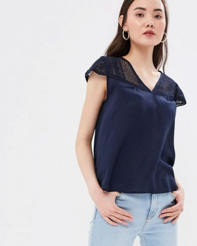 Блузка с коротким рукавом индийский синяя Bruebeck