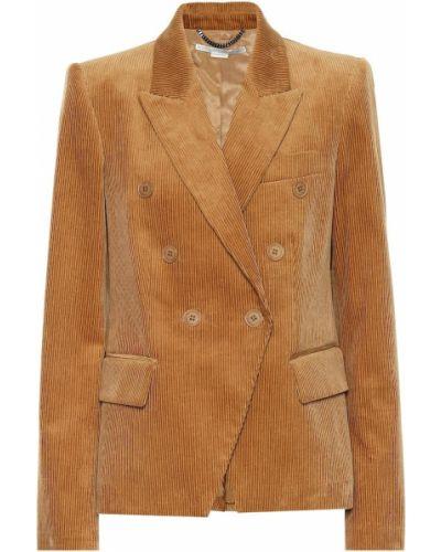Пиджак вельветовый двубортный Stella Mccartney