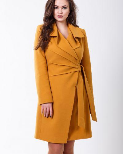 Золотистое желтое пальто Sergio Cotti