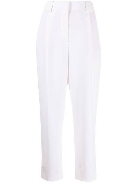 Прямые с завышенной талией белые брюки Giorgio Armani