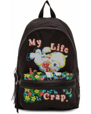 Skórzany plecak z zamkiem błyskawicznym czarny Marc Jacobs