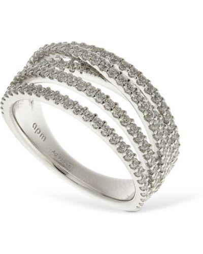 Кольцо с камнями - белое Apm Monaco