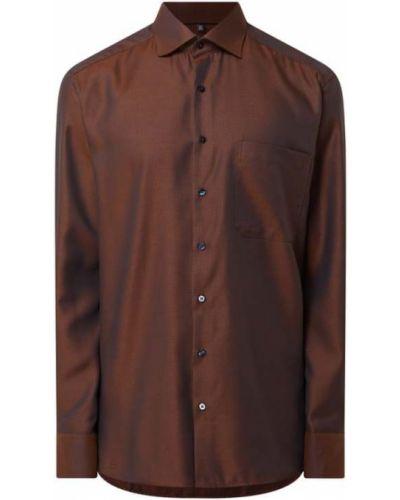Brązowa koszula bawełniana Eterna