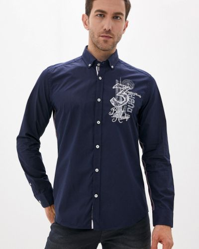 Синяя с рукавами рубашка Felix Hardy