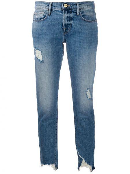 Укороченные джинсы с низкой посадкой скинни Frame