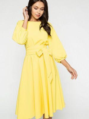 Платье - желтое Eva