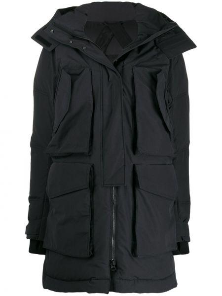 Черное длинное пальто J.lindeberg