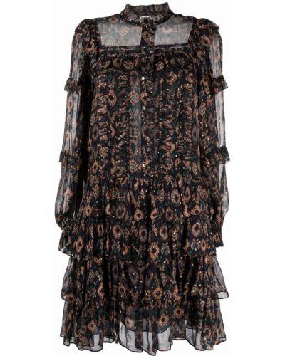 Czarna sukienka z długimi rękawami Ulla Johnson