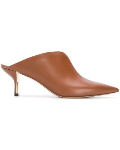 Мюли кожаные на каблуке Nicholas Kirkwood