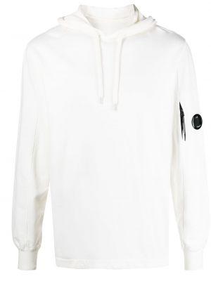 Biały pulower bawełniany z kapturem C.p. Company