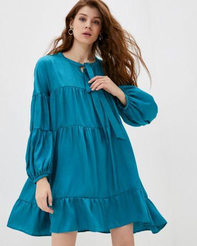Прямое бирюзовое платье Please