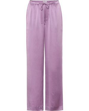 Летние брюки фиолетовые шелковые Vince.