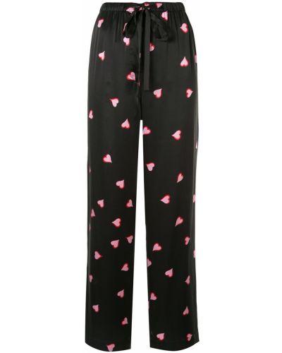 Брюки пижамные черные Marc Jacobs