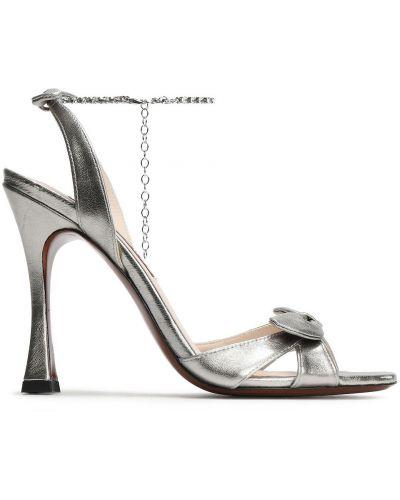 Sandały skórzane Alexachung