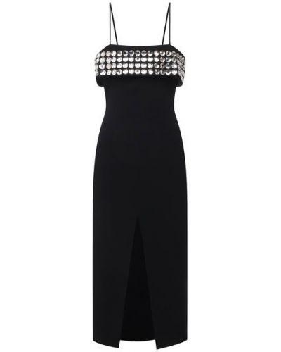 Платье с подкладкой - черное David Koma
