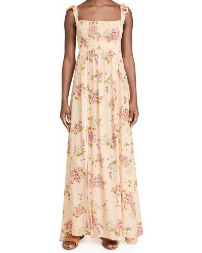 Текстильное платье макси в цветочный принт на шпильке Agua Bendita